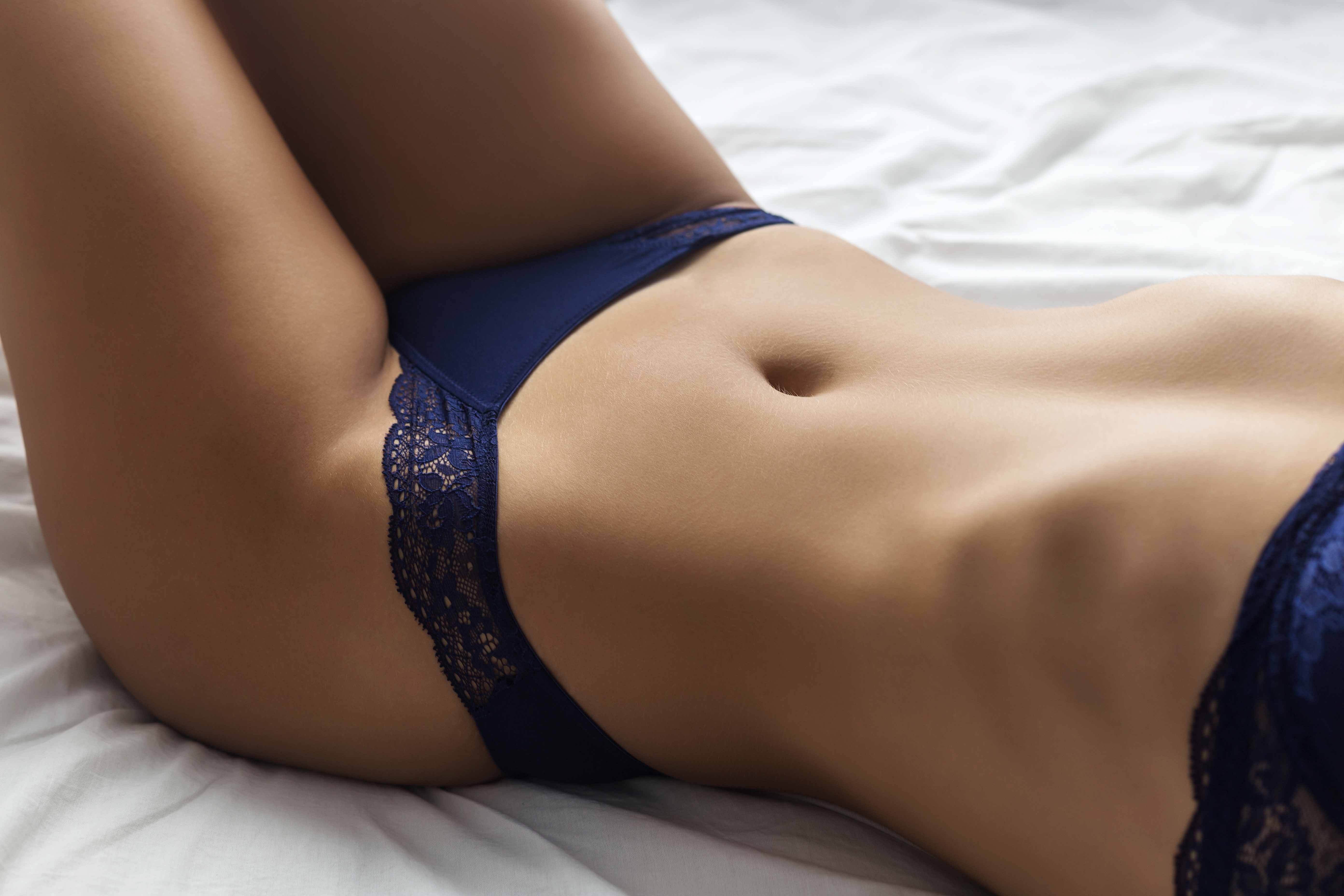Sexy Young Woman in Lingerie on The Bed   Tiffany's Girls Sydney Brothel